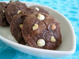 Chocolate Brownie Cookies with White Chocolate Chips and Roasted Macadamia Nuts