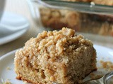 Coffee Cake with Crumble Topping and Brown Sugar Glaze #SundaySupper