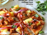 Hawaiian bbq Turkey Flatbread Pizza #SundaySupper