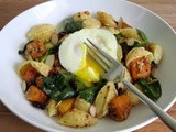 Holiday Recipe Club: Poached Egg Butternut Squash Pasta
