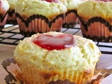 Muffin Monday: Almond Strawberry Biscuit Muffins