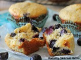 #MuffinMonday: Blueberry Cornbread Muffins