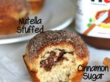 #MuffinMonday: Nutella Stuffed Cinnamon Sugar Muffins