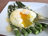 Poached Egg on Roasted Asparagus with Hollandaise