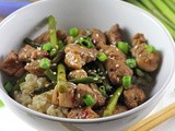 Pork and Asparagus with Hoisin Sauce