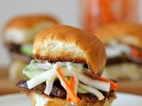 Pork Belly Sliders with Pickled Daikon and Carrots