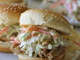 Raspberry Balsamic Glaze Pork Sliders with Coleslaw and a Giveaway