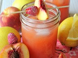 Raspberry Peach Lemonade