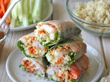 Roasted Shrimp Quinoa Spring Rolls
