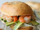 Shrimp Sandwich with Avocado and Broccoli Slaw