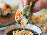 Shrimp Spring Rolls with Hoisin Peanut Dip