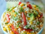 Strawberry Avocado Couscous Salad with Lime Vinaigrette