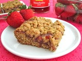 Strawberry Honey Oatmeal Bars and April Foodie Penpals