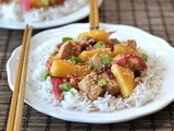 Sweet and Sour Stir-Fried Chicken with Pineapple and Red Onion
