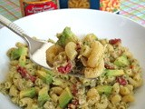 Tuna Pesto Pasta Salad with Avocado and Sun dried Tomatoes