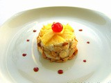 Mini cheese cake con banane e ananas