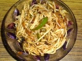 Indo- Chinese Vegetable Hakka Noodles