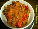 Kadai Paneer with Capsicum and Spring-Onion