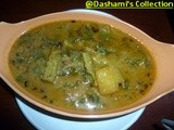 Malabar Spinach and Raw papaya curry ( Vaali Ambat )