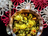 Awadhi Vegetable Tehri (or Tahiri) & our Dinner-time conversation