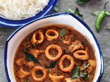 Malabar Squid Curry or Nadan Koonthal Curry