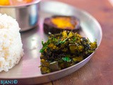 Neem Begun (Stir-fried Neem leaves and Eggplant)