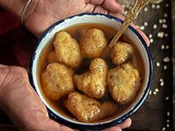 Rosh Bora (Fritters served with Runny Sugar/ Jaggery syrup) | Bengali Rosh Bora recipe