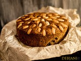Traditional Scottish Dundee Cake; a substitute for Rich Fruit Cake