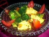 Achari Broccoli with Paneer