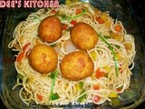Noodles with Paneer Balls