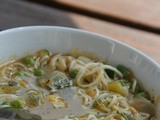 A soup is not just for winter – Deena's emerald summer soup with Thai basil
