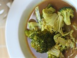 Broccoli and Chinese leaf curry in a miso base