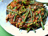 Green beans and soya beans in red sambal