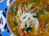 Keep it kind and easy- Tomato, chilli, lemongrass, basil and rice noodle soup