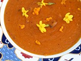 Tomato, orange and chilli soup