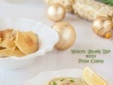 12 Treats of Christmas: White Bean Dip with Sea Salt Pita Chips