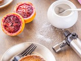 Blood Orange Brulee Tarts