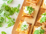 Broad bean tarts with mascarpone and ricotta