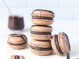 Chocolate Macarons with Salted Caramel Chocolate Ganache