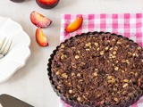 Chocolate Plum Crumble Tart