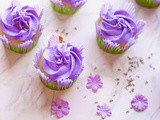 Lavender Cupcakes With Buttercream Frosting