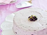 Lemon Cake with Blueberry Frosting