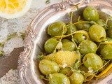 Lemon, Thyme and Garlic Marinated Olives