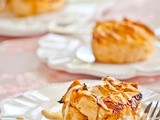 Mini Bourbon Peach Pies with Vanilla Bourbon Custard