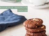 Quadruple chocolate cookies – the easiest chocolate cookies you'll ever make