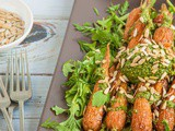 Roasted Baby Carrots with Carrot Top Pesto {vegan & dairy-free}