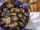 Roasted Balsamic Brussel Sprouts {vegan}