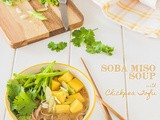 Soba Miso Soup with Chickpea Tofu {vegan}