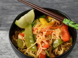Thai Noodles in Red Curry Sauce