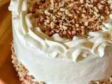 Vegan Carrot Cake with Maple Cream Cheese Frosting